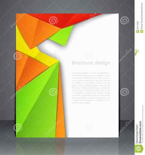 geometric design brochures magazine cover flyer or