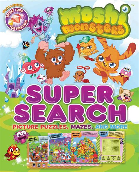 moshi monsters search book by bill scollon moshi