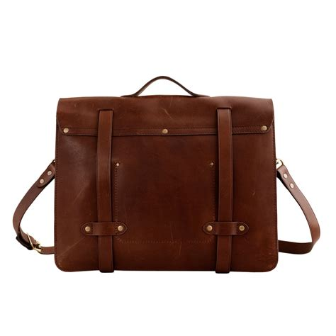 Sachele Brown j crew montague leather satchel in brown for medium