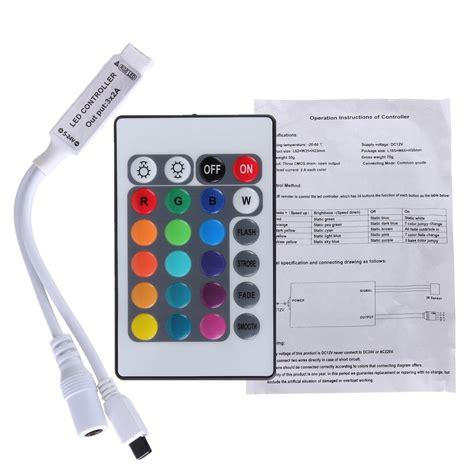 Led Rgb Remot 24 key mini ir remote controller for 3528 5050 rgb led light dc 12v sale banggood
