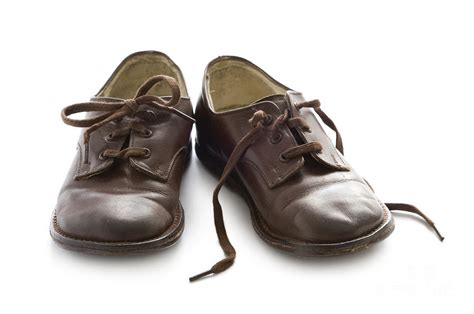Pair Of Pair Of Vintage Child Leather Shoes Photograph By Avison