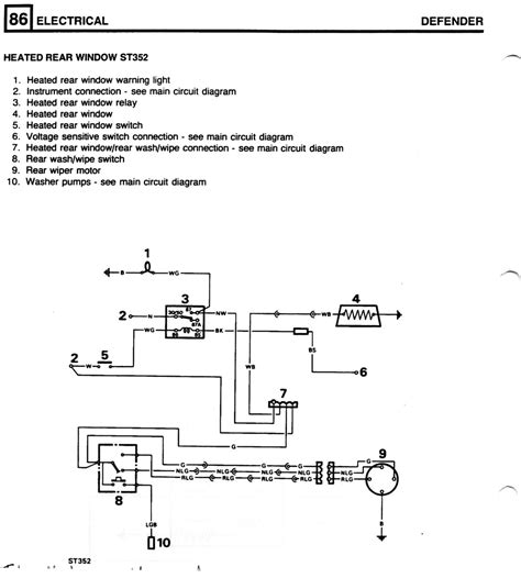land rover heated windscreen wiring diagram land