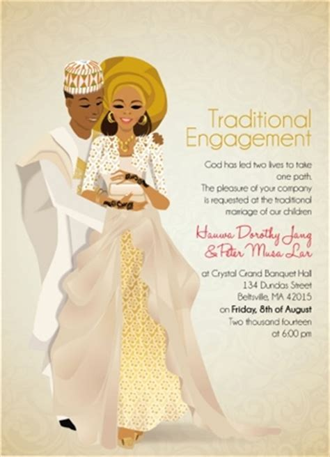 wood wedding invitation in nigeria for tradition wedding nigerian traditional wedding invitation card