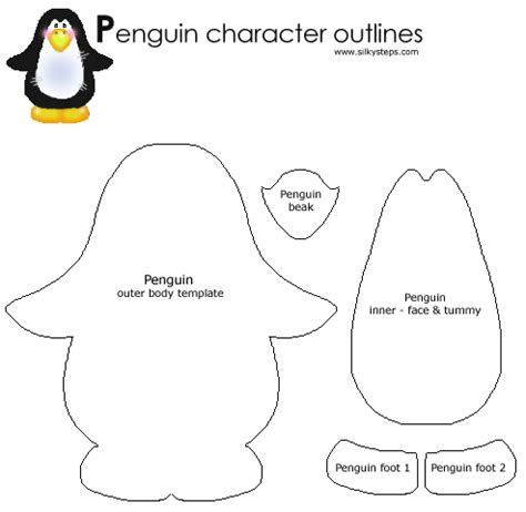 penguin craft template crafts classroom pinterest