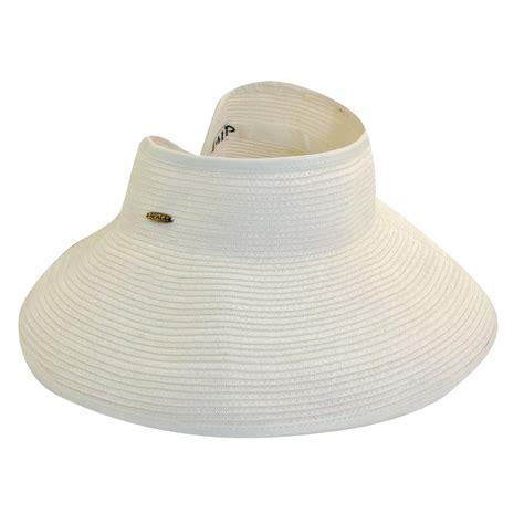 womens packable roll sun visor hat by dorfman pacific