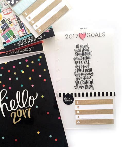 Happy Dasboard using a happy planner 174 clear dashboard as 2017 goals