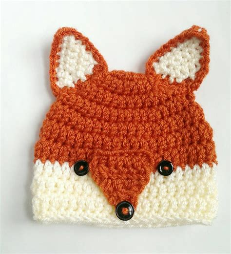 knitted fox hat fox hat woodlands animal handmade crochet knit hat beanie