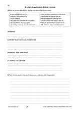 application letter exercises a letter of application writing exercise worksheet for 5th