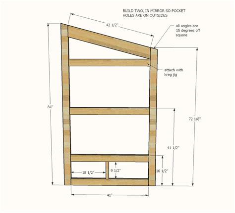 easy to build home plans ana white outhouse plan for cabin diy projects