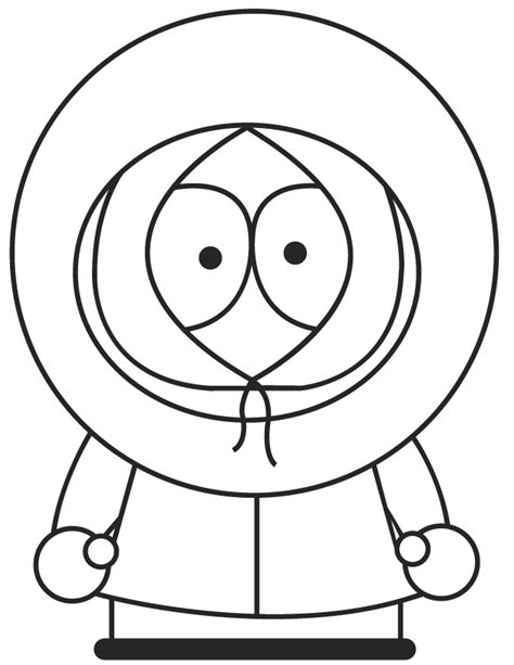 South Park Character Kenny Coloring Page H M Coloring South Park Coloring Pages