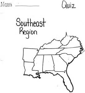 united states map quiz by region united states southeast region map quiz