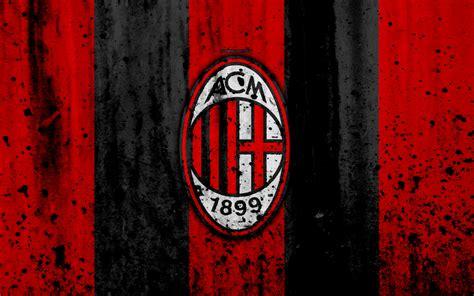wallpapers ac milan  logo rossoneri serie