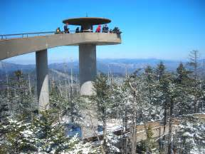 unique places to visit in the us file clingman s dome tower on a sunny snowy day jpg