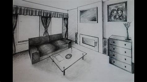 draw room how to draw living room with fireplace two point