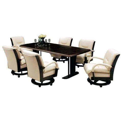 Dining Table With Caster Chairs 98 Dining Room Chairs Rolling Dining Room Chairs With Rollers Galleries Photos On Wheels