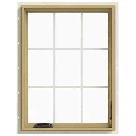 Jeld Wen Aluminum Clad Wood Windows Decor Jeld Wen 30 In X 40 In W 2500 Right Casement Aluminum Clad Wood Window Thdjw140100451