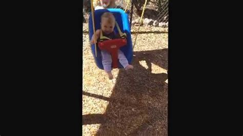 1st time swinging melody s very first time swinging youtube