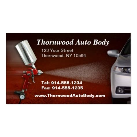 automotive business card templates customizable auto bc business card templates zazzle