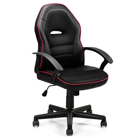 Highback Chairs - black pu leather high back office chair executive