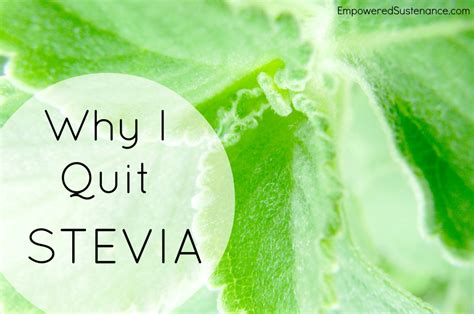 Detoxing From A Stevia Reaction by Image Gallery Stevia Allergy
