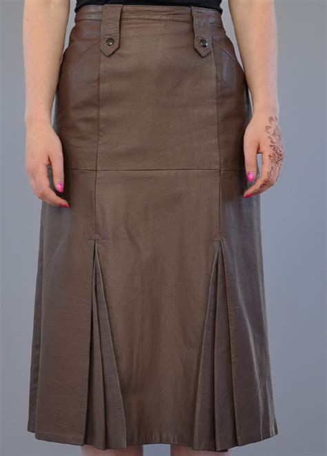 vintage skirt leather skirt mink skirt vintage deli