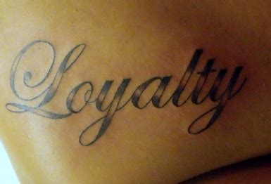 unique loyalty tattoo pictures