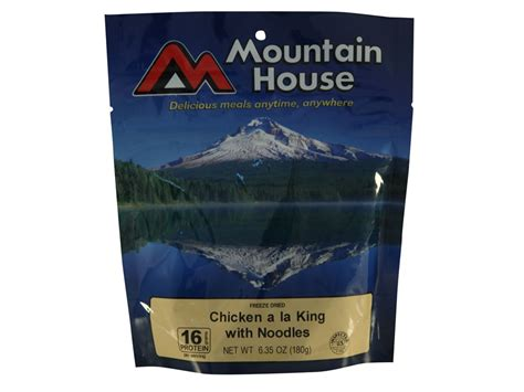 mountain house food mountain house chicken a la king noodles freeze dried food