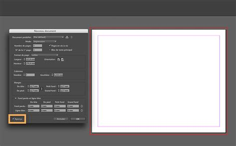 layout zones indesign configuration d une impression 224 fond perdu dans indesign