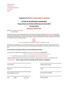 guideline a sample reasonable assurance letter