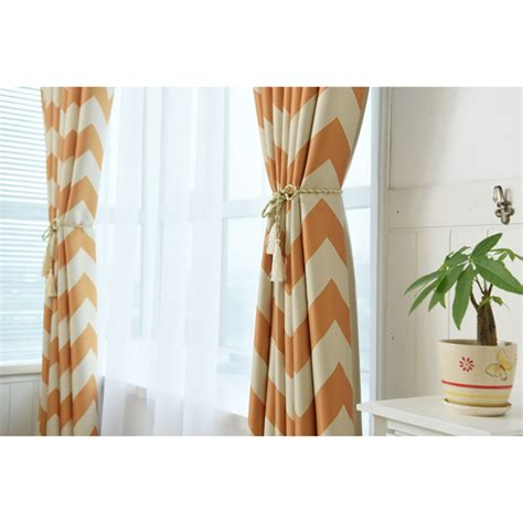 blackout soundproof curtains blackout window curtains white orange stripes soundproof