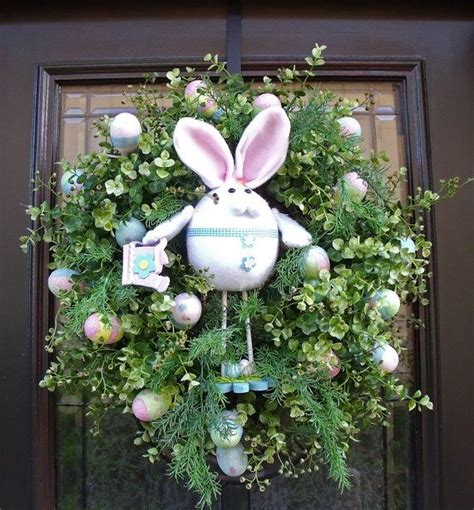 Easter Front Door Decorations 17 Best Images About Door Decor On Burlap Bags Easter Peeps And