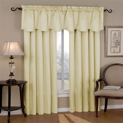 Valance Curtains eclipse curtains canova blackout drapes and valance set in ivory canova blackout drapes and