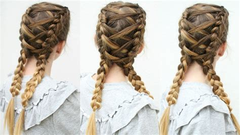Criss Cross Hairstyles by Criss Cross Braids Braided Pigtails