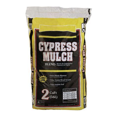 cypress mulch blend 2 cu ft bag 2 45 home depot