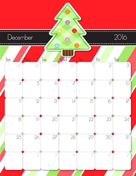 december 2015 calendars christmas themed designs 2016 printable calendar free printable calendar handmade