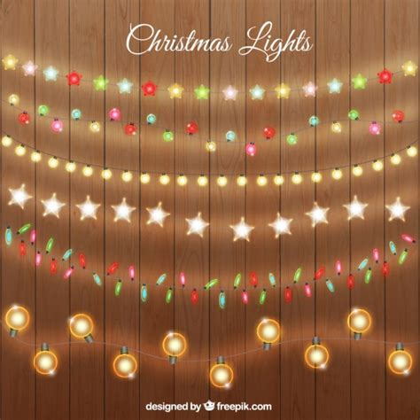 christmas lights collection vector premium download