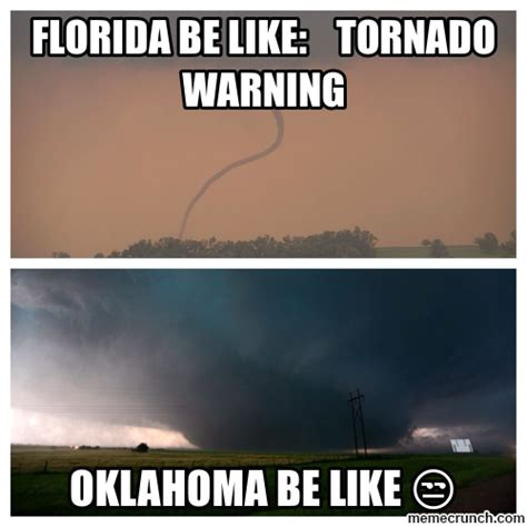 florida tornado warning be like meme