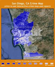 california crime map san diego ca crime rates and statistics neighborhoodscout