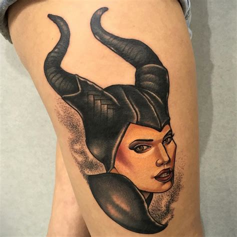 maleficent tattoo thigh maleficent best ideas gallery