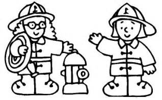 firefighter coloring pages sketch template