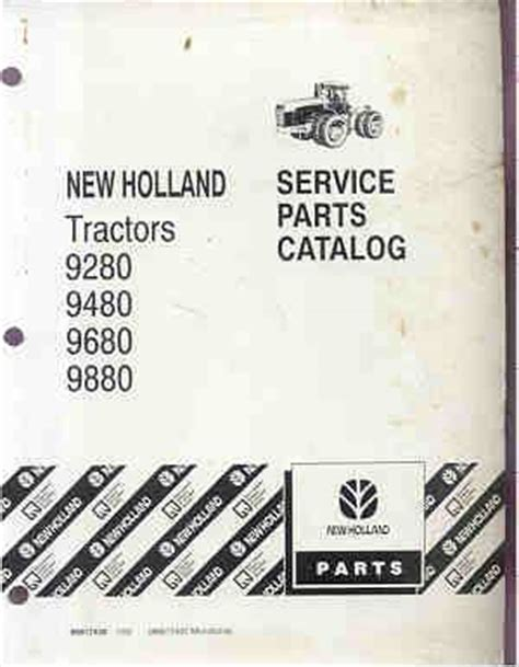 ford  holland versatile     tractor parts manual