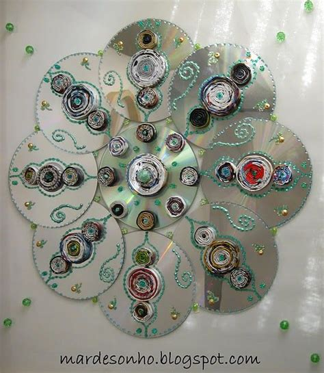 recycled cd crafts for recycled crafts jackpot everything from cd mandalas to