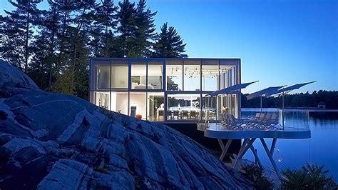 extraordinary glass house  lakefield ontario home