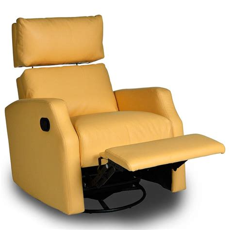 yellow recliner chair sidney bonded leather swivel glider recliner shop