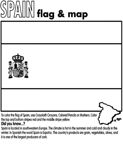 coloring pages of the spanish flag spain flag coloring page coloring home