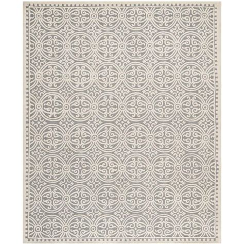 11 x 16 area rugs safavieh cambridge silver ivory 11 ft 6 in x 16 ft area rug cam123d 1216 the home depot