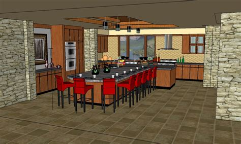 Living Room And Kitchen Design by Jmp Strt Google Sketchup