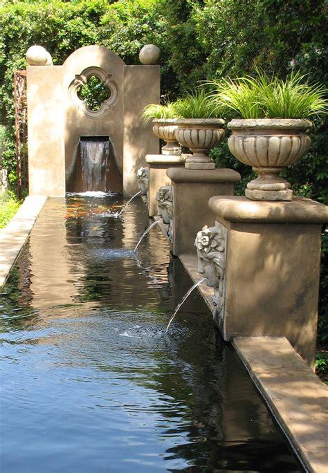 formal koi pond estate garden fountain feature fountains