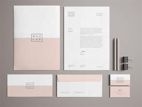 Free High Solution Pink Branding / Stationery Mockup PSD