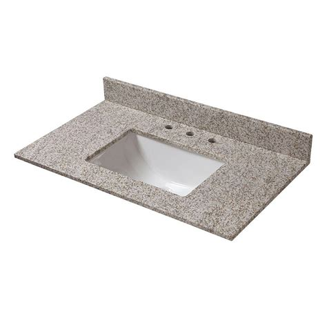 trough sinks home depot pegasus 37 in w granite vanity top in golden hill with
